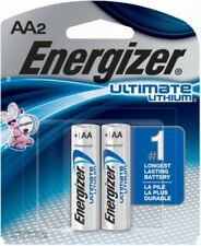 2 Pack Energizer AA L91BP Ultimate Lithium Batteries