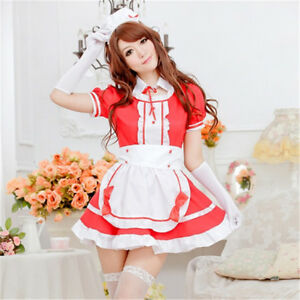 Cosplay  Maid dress Japanese Anime customes restaurant  Maid
