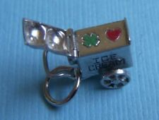 Vintage enamel movable Ice Cream Cart sterling charm