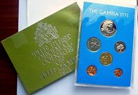 1971 GAMBIA - OFFICIAL PROOF SET (6) - FIRST DECIMAL COINS - ROYAL MINT -BEAUTY!