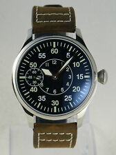 Montre pilote FLIEGER NAV-B Mécanique type Unitas 6497 pilot watch B-uhr