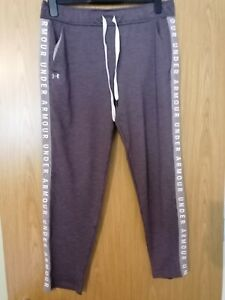 Under Armour Ladies Joggers Bottoms 'fitted' Size large Grey / lilac VGC