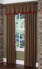 Cabin Lined Layered Valance - Park Designs - Plaid - Free Shipping