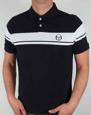 Sergio Tacchini Young Line Polo Shirt in Navy & White - pique 80s casual SALE