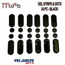 STRIPS AND DOTS 24 PACK BLACK STICKY DASHES GEL STICKER REPAIR MOTORBIKE TANK