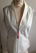 Womens PRADA Sport Full Zip Lightweight Gilet Vest & Concealed hood UK 14 IT 46