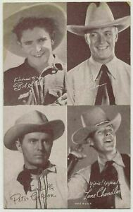 1940's All Star Cowboys 4-in-1 Exhibit Supply Co. Arcade Trading Card  (PLT0715)