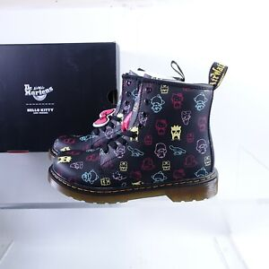 Size 5 Women's / 4Y Youth Dr. Martens 1460 Hello Kitty Hydro Leather Side Zipper