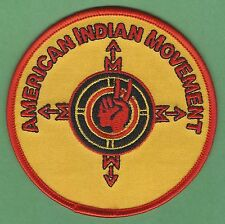 AIM AMERICAN INDIAN MOVEMENT COMPASS PATCH