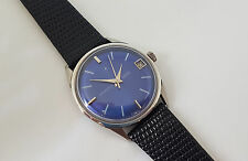 RARE 60'S ZENITH 6400 BLUE DIAL MANUAL WIND MAN'S WATCH