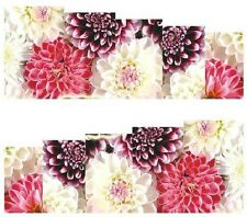 Nail Art Decals Transfers Stickers Pretty Multicoloured Flowers (A-888)