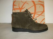 c0939b3fade Via Spiga Size 6 M Jancy Olive Suede Leather Ankle BOOTS Womens Shoes