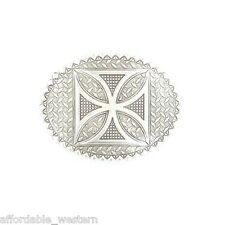 Crumrine Silver ~MALTESE CROSS~ Western Belt Buckle Chopper Mototcycle 38024 14