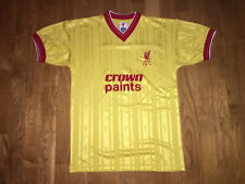 Official LIVERPOOL FC CROWN PAINTS RETRO 80's football shirt VGC yellow red VGC