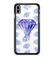 Exquisite Purple Ice Crystal Gem Diamond Glint Jewel Pattern 2D Phone Case Cover