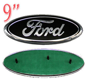NEW 2004-2014 F-150 BLACK OVAL FRONT GRILLE OR REAR TAILGATE 9 INCH EMBLEM US