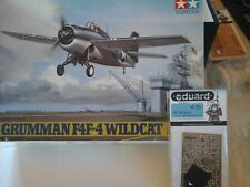 GRUMMAN F4F-4 WILDCAT 1/48 SCALE TAMIYA MODEL+PHOTOETCHED PARTS