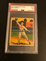 1934 Diamond Stars Bill Terry #14 PSA VG 3 HOF