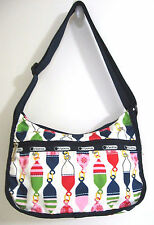 Le SportSac Everyday Crossbody Bag Multi-Color Chain of Ornament Print