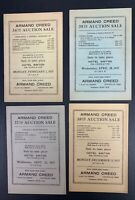 Armand Creed, Lot of Four 1937 Stamp Auction Catalogs, Sales #34-35, 37-38