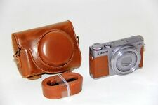 Brown Tan leather case bag for Canon G9 X Mark II camera G9X II Black Silver