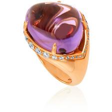 Bvlgari Sassi 18K Yellow Gold Amethyst Ring- Size 6.5
