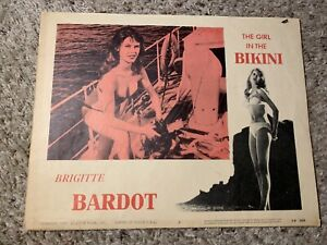 Original 1958 THE GIRL IN THE BIKINI LC #6 CHEESECAKE Lobby Card Brigitte Bardot