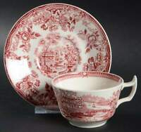 Royal Staffordshire TONQUIN RED PINK Cup & Saucer 628260