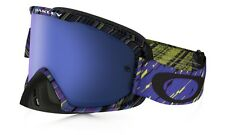Maschera Oakley O2 Mx Rain Of Terror Blue Ice Iridium & Clear OO7068-14 Cross