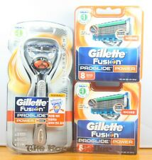 Gillette Fusion Proglide Power STYLER TRIMMER, RAZOR+ 8 Refill Blades Cartridges