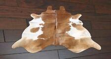 Medium Cowhide Rug Brown and White Cow Skin Rug Cow Hide Carpet Rug 5 x 5