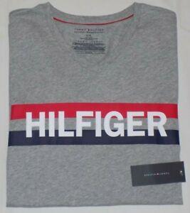 Tommy Hilfiger Men's Sleepwear Graphic T-Shirt 100% Cotton GrayHeather LG(42-44)