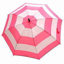 Victoria's Secret Umbrella Limited Edition Signature Pink Stripe Rain Parasol Vs