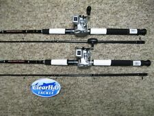2PK NEW DAIWA WILDERNESS 8'0 MLR TROLLING RODS W/ DAIWA ACCUDEPTH 17LCB REEL