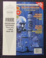 1991 DOCTOR WHO Marvel UK Magazine #185 VF 8.0 w/ 4 Post Cards NM 9.4