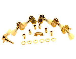 Kluson Revolution Tuners - 3x3 Pearloid button - Gold KEDP-3801G