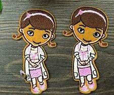 small Doc McStuffins Doctor Embroidered Iron On / Sew On Patch
