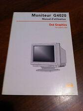 Monitor Océ G4020 User's Guide