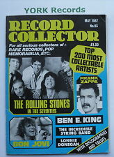 RECORD COLLECTOR MAGAZINE - Issue 93 May 1987 - Rolling Stones / Bon Jovi