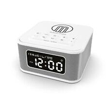 White Lightning Docking Station Bluetooth Alarm Clock FM Radio