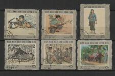 Vietnam du Nord 1969 campagne de ralliement série de 6 timbres oblitérés /TR8417