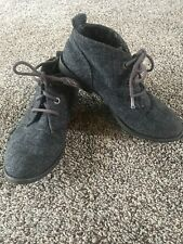 Blowfish tweed fabric ankle boot Tie Up Womens Show Sz 6 See Pictures & Details
