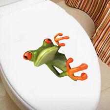 Frosch Badezimmer Toilettensitz Abdeckungs Aufkleber Hauptdekor anzuwenden Pop.