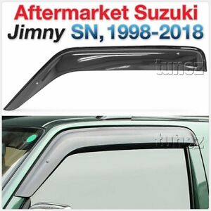 Window Door Visor Weathershield Weather Shield For Suzuki Jimny 1998-2018 SN AT