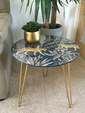 Bohemian Style Coffee Table Side Table Leopard Print Design Living Room Bedroom