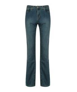 """LACOSTE Women's Platinal Blue Cotton Blend Jeans Size 42/34"""" B24"""