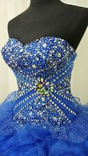 NEW Alta Couture by Mary's XV Quinceanera Dress 4T108 Royal Blue Size 8