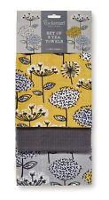 Cooksmart Retro Meadow Set of 3 Tea Towels (100 Cotton)