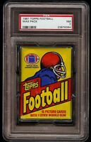 1981 Topps Football Wax Pack Graded PSA 7 NM Possible Joe Montana Rookie RC 1200