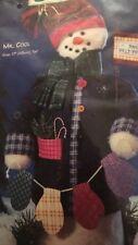 Mr. Cool Snowman Dimensions Bottle Buddies Craft Kit  Felt 1997 Kids